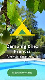 Creation site internet Lot Dordogne Camping Chez Francis